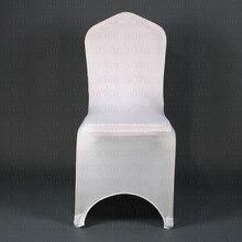 Awillhome бесплатная доставка в Германии Россия продовольственный дом 100 шт. хорошее качество белый Спандекс Чехлы на стулья для свадьбы событие