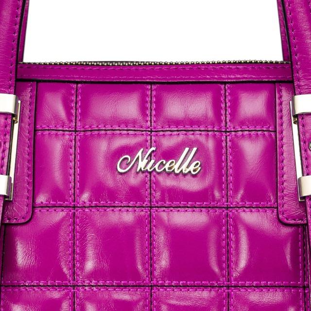 NUCELLE Brand Grid Pattern Design Luxury Vintage Burnished Cowhide Leather High Quality Women Handbag Shoulder Bag
