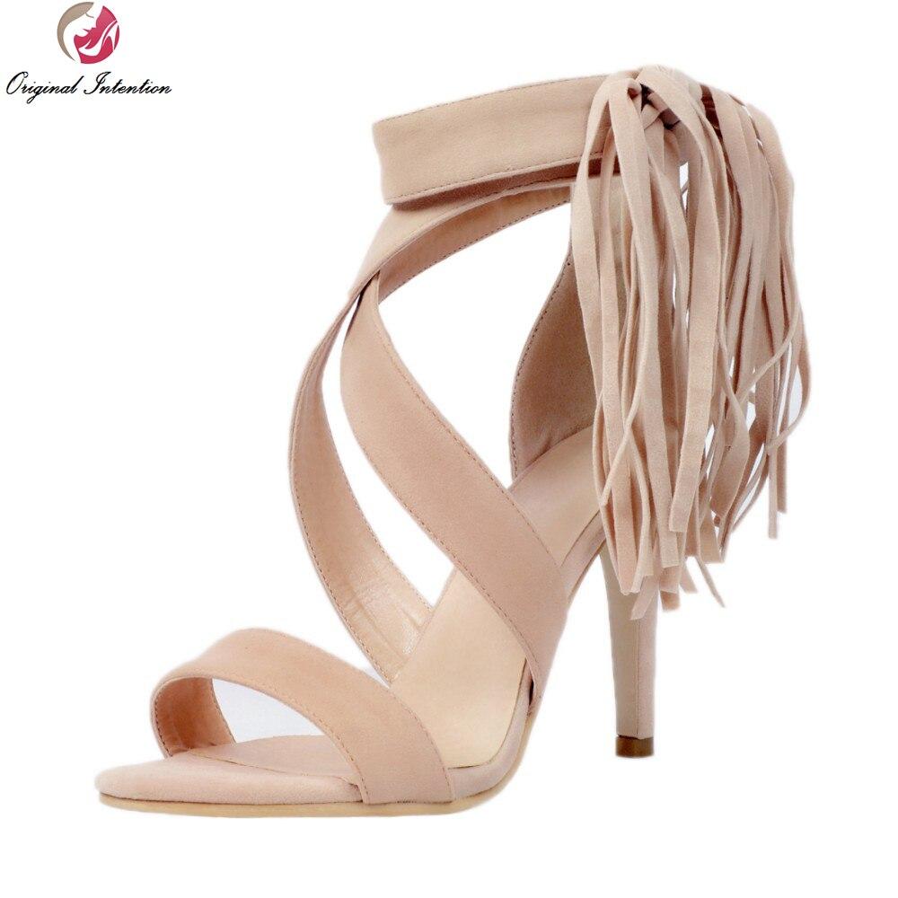 Las Tacones Original Tamaño Calidad Intención De Xd021 Alta Zapatos Mujeres Plus 4 Abierta Punta Hermosas Sandalias Mujer 15 Nuevo Delgada La 5IPTqwT
