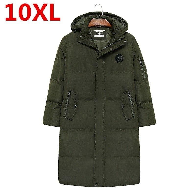 10XL 9XL plus size novo inverno jaqueta casaco casaco homem jaquetas casuais dos homens novos de alta qualidade dos homens tecido algodão-acolchoado roupas