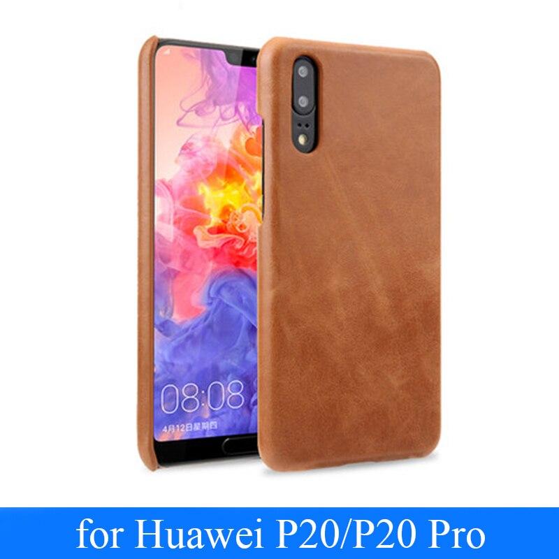 Housse de téléphone en cuir véritable pour Huawei P20 étui pour Huawei P20 Pro P20pro coque mince + protecteur d'écran en verre trempé