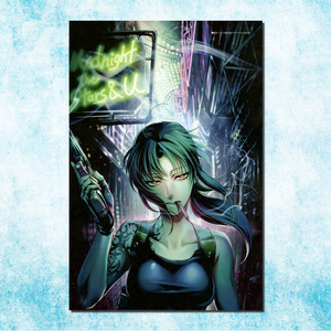 Black Lagoon Revy Two-Hand Anime Art Silk Canvas Poster Print 13x20 24x36 inches Modern Home Living Room Decor(more)-5(China)