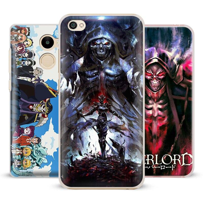 OVERLORD Anime manga Phone Case Shell Cover For Xiaomi Redmi Note 5 2 3 4 4X 5A Pro Mi 4 5 5S Plus 5X 6 8 Mi A1 Mi note 2 3