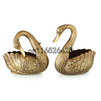 Fashion copper decorative swan crafts high end luxury villa decoration Home Furnishing creative arts and crafts