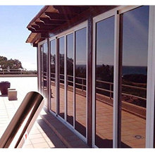 Brown Silver Solar Mirror Glass Film One-way Perspective Window Sticker Anti-UV Tint Office Building Bedroom Home Decor 60*200cm