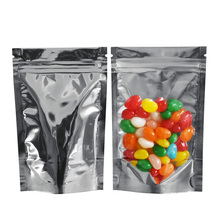 10x15cm Clear Stand Up ZipLock Bag Resealable Mylar Foil Plastic Package Bags Food Coffee Milk Powder Storage 100pcs/lot