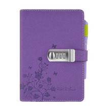 TATCAT  A5 PU Leather Locking Journal Password Notebook with Pen Loop 3 Card Slots 112 Sheet (pen not included) TPN099