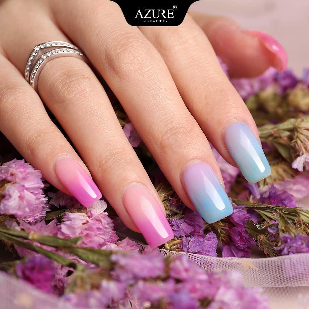 紺碧美容サーモ温度 UV ネイルジェルポリッシュソークオフカメレオン熱 Led ジェルネイルポリッシュ変更色ネイルエナメル