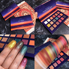 Sunset 18 Colors Eyeshadow palette Smoky Shimmer Matte Pigment Glitter Eye Shadow Pallete Cosmetics Makeup Eyeshadow Palette цена