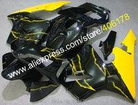 Hot Sales,For Honda CBR/600 600RR CBR600RR 03/04 CBR600 RR F5 CBR600F5 2003/2004 Yellow Black Fairing Kit (Injection molding)