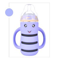 240ML Baby drinking Water Bottle Cups With Straw Portable Feeding Bottle Cartoon Water Feeding Cup With The Handle For Baby Hot