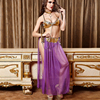 Kuper Cherry Golden Latex Lingerie Sexy Women Transparent Belly Dance Purple Chiffon Robe Adult Game Role