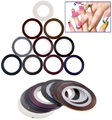 BTT-108 New Arrival! Profession 34 Pcs different Colors Rolls Striping Tape Line DIY Nail Art Tips Decoration Sticker Nail Care