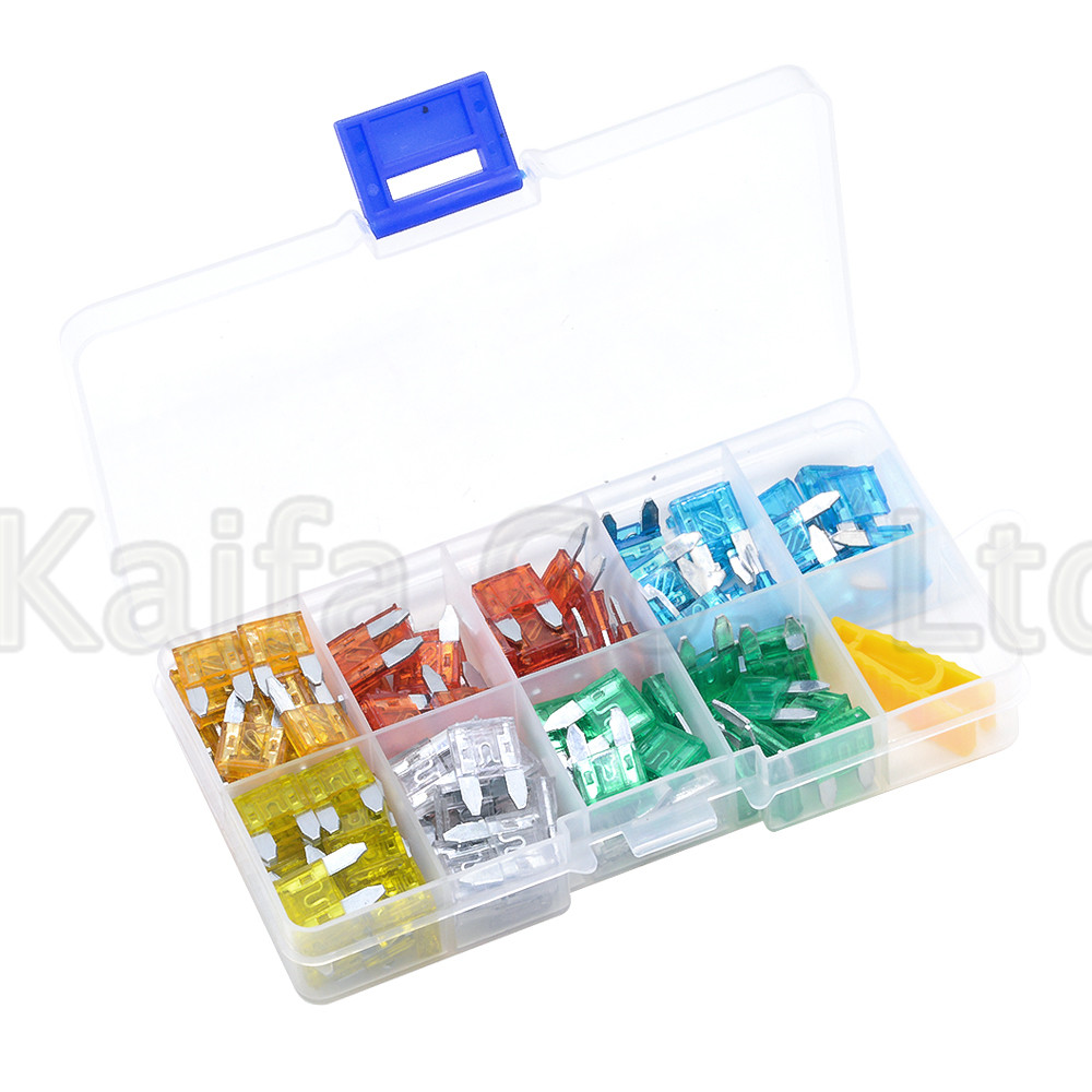 New small 120pcs Auto Automotive Car Boat Truck Blade Fuse Box Assortment 5A 10A 15A 20A 25A 30A