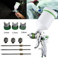 HVLP Spray Gun 1.4/1.7/2.0mm Nozzle Accessories Car Painting Tools Air Paint Spray Guns Airbrush for Painting Spraying Gun