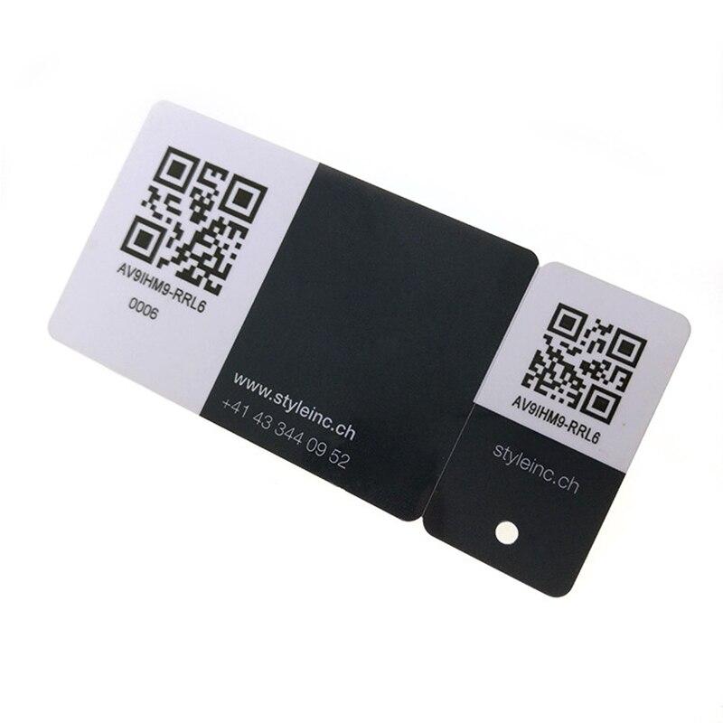 1000Pcs/lot Printable Plastic Business Card Die Cut Membership Card