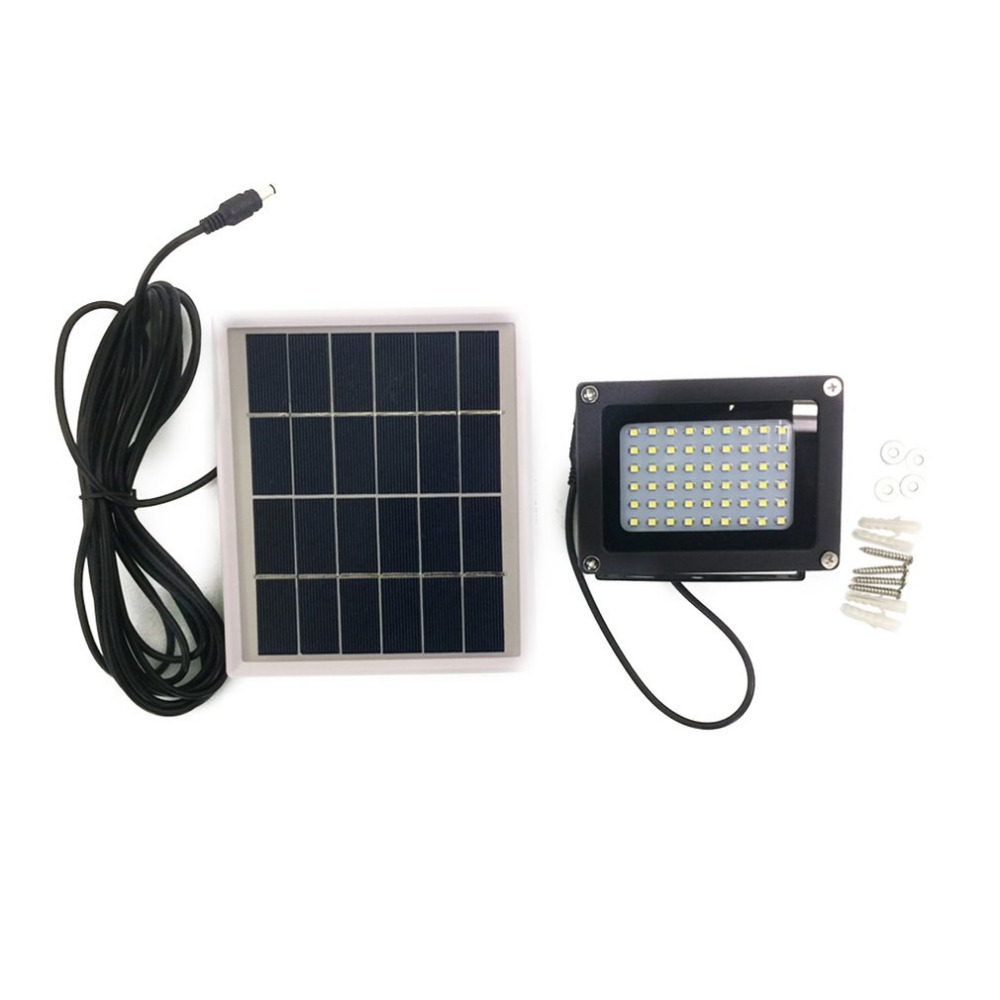 54LED Solar Powered LED Flood Light Radar Induction IP65 Waterproof Outdoor Lamp for Home Garden Lawn Pool Yard 2Colors