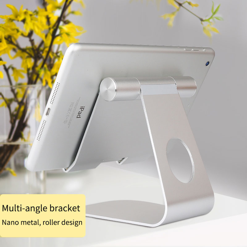 Image 2 - Universal Aluminum Tablet Stand for Apple iPad bracket Senior Metal Support for iphone x/8 mipad samsung Galaxy tab stand holdertablet standtab standaluminum tablet stand -