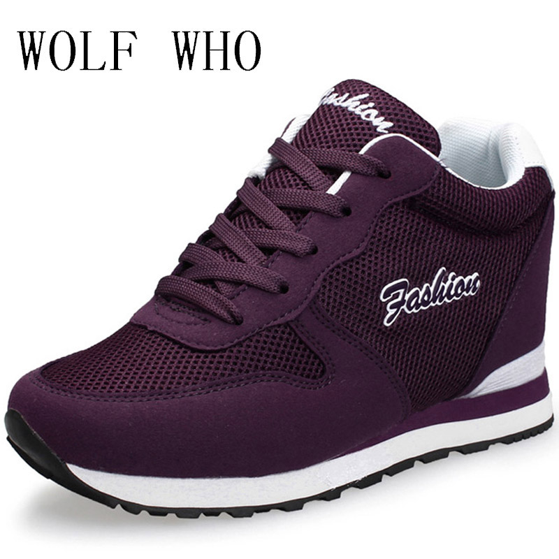 WOLF WHO Hidden Heels Krasovki Platform Wedges Sneakers Women Shoe 2017 Tenis Feminino Casual Chaussure Femme Basket Femme x367 2017 spring autumn casual men s shoes basket femme chaussure tenis feminino male shoes sport krasovki trainers luxury presto