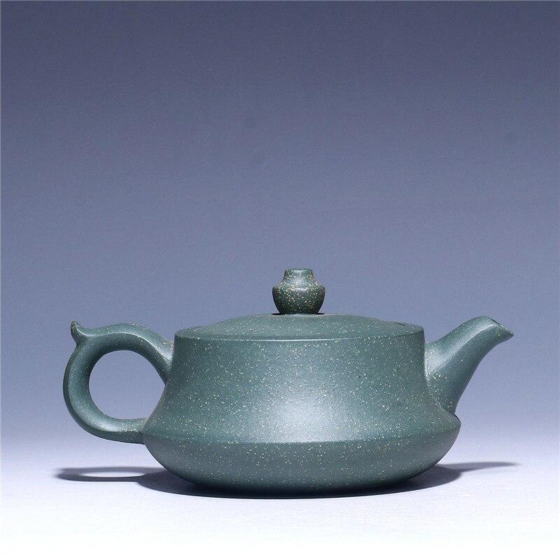 Ev ve Bahçe'ten Çaydanlıklar'de 170 ml Yeşil çamur seramik demlik Toptan ham cevheri mor kil pu'er siyah çay demlik Yixing Zisha demlik Ücretsiz kargo