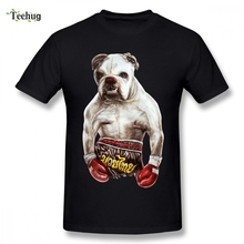 Hot Sale BOXING DOG T-shirt For Unisex Casual 3D Print Male Graphic Camiseta
