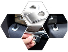 For BMW X5 F15 2014 2015 2016 2017 ABS Plastic Interior Door Lock Pins Cover Trim 4pcs Car Styling