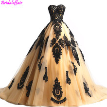 2019 Black Lace Long Tulle A Line Prom Dresses Evening Party Corset Gothic Gowns abiye gece elbisesi Formal