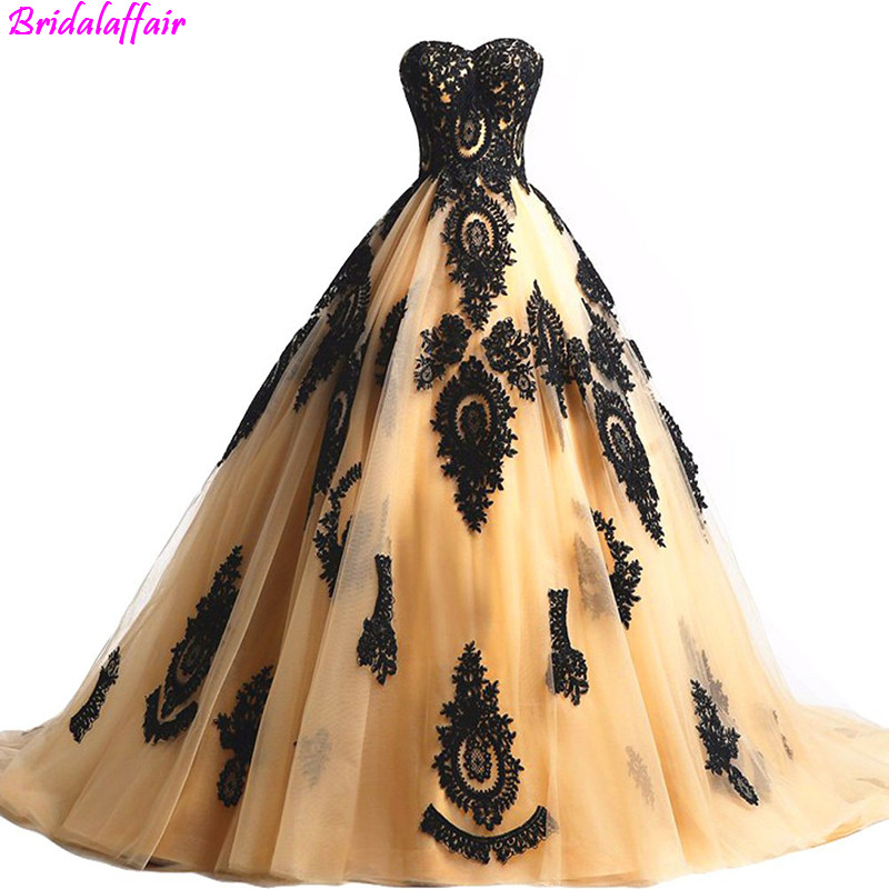 2019 Black Lace Long Tulle A Line Prom Dresses Evening Party Corset Gothic Prom Gowns abiye gece elbisesi Formal Dresses Evening