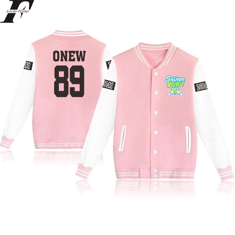 LUCKYFRIFAYF 2018 SHINee Jonghyun R.I.P Kpop Baseball Jacket Women/Men Outwear Coat Kpop Winter Jacket Women Long Streetwear