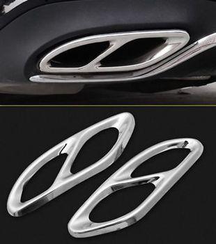 Garnitures chromées de cadre de pointe de silencieux d'échappement pour Benz GLC GLE GLS C E W213 W166 2017 2018