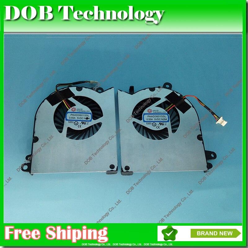 GENUINE Laptop Fan For MSI GS60 CPU+GPU cooling Fan PAAD06015SL N293 N294 FAN 5V 0.55A Free shipping