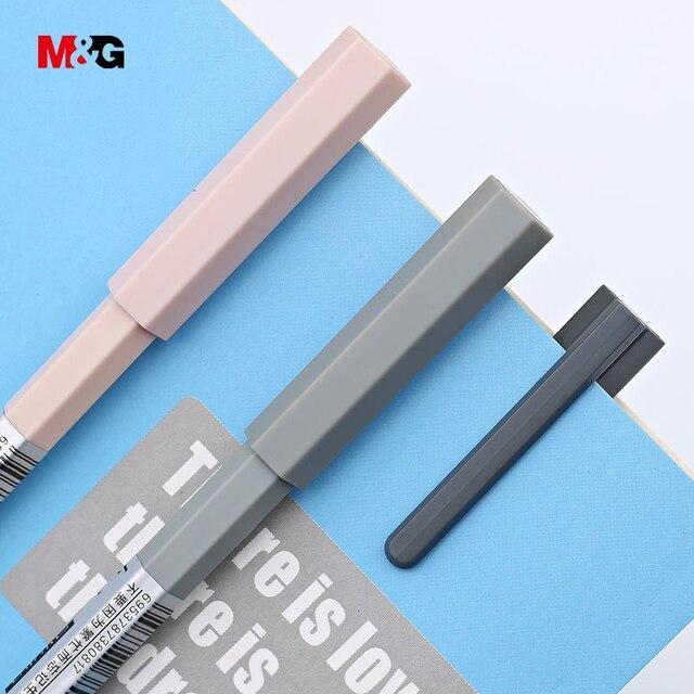 M & G en gros 3 pièces corps hexagonal élégant à bille stylos gel pour écriture papeterie fournitures scolaires de bureau design Minimaliste stylo