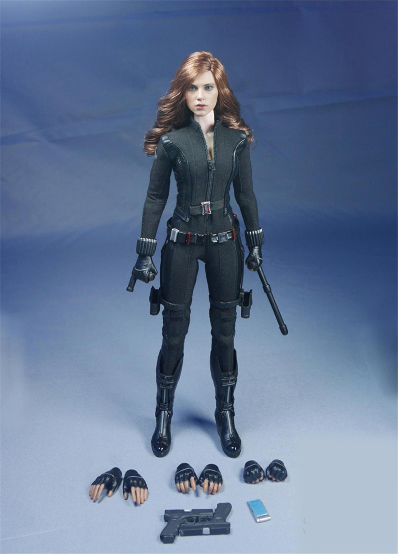 Mnotht 1/6 Female Solider Avenger League Black Widow Head Carved Suit Coat&Pants For 12in Figures Glue Body Model l30 mnotht head sculpt 1 6 solider head model mk42 mk43 iron man toni carved head for 12in figures toys and body l30