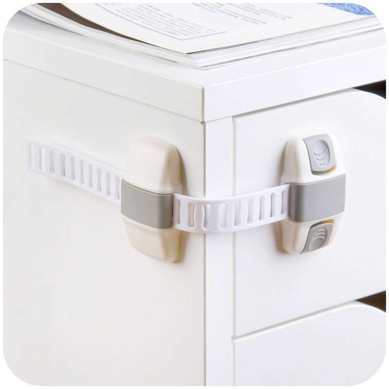 Adjustable Child Safety Locks Latches Securely Shuts Drawer Cupboard Cabinets Appliances Durable Stylish Baby Safety Latch