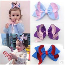 10pcs/lot Baby Girl Double Color Ribbon Bow Hair Headwear accessories