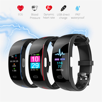 H66 Smart Band Support ECG+PPG Blood Pressure Heart rate Monitoring waterpoof Pedometer Sports Fitness Bracelet Tracker Watch P3