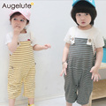 JIABI Baby Clothing 2016New Spring Summer Pant,Boy Girl Striped Comfortable Soft Simple Baby LEGGINGS Boy Girl Overalls Jumpsuit