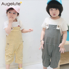 JIABI Baby Clothing 2016New Spring Summer Pant Boy Girl Striped Comfortable Soft Simple Baby LEGGINGS Boy