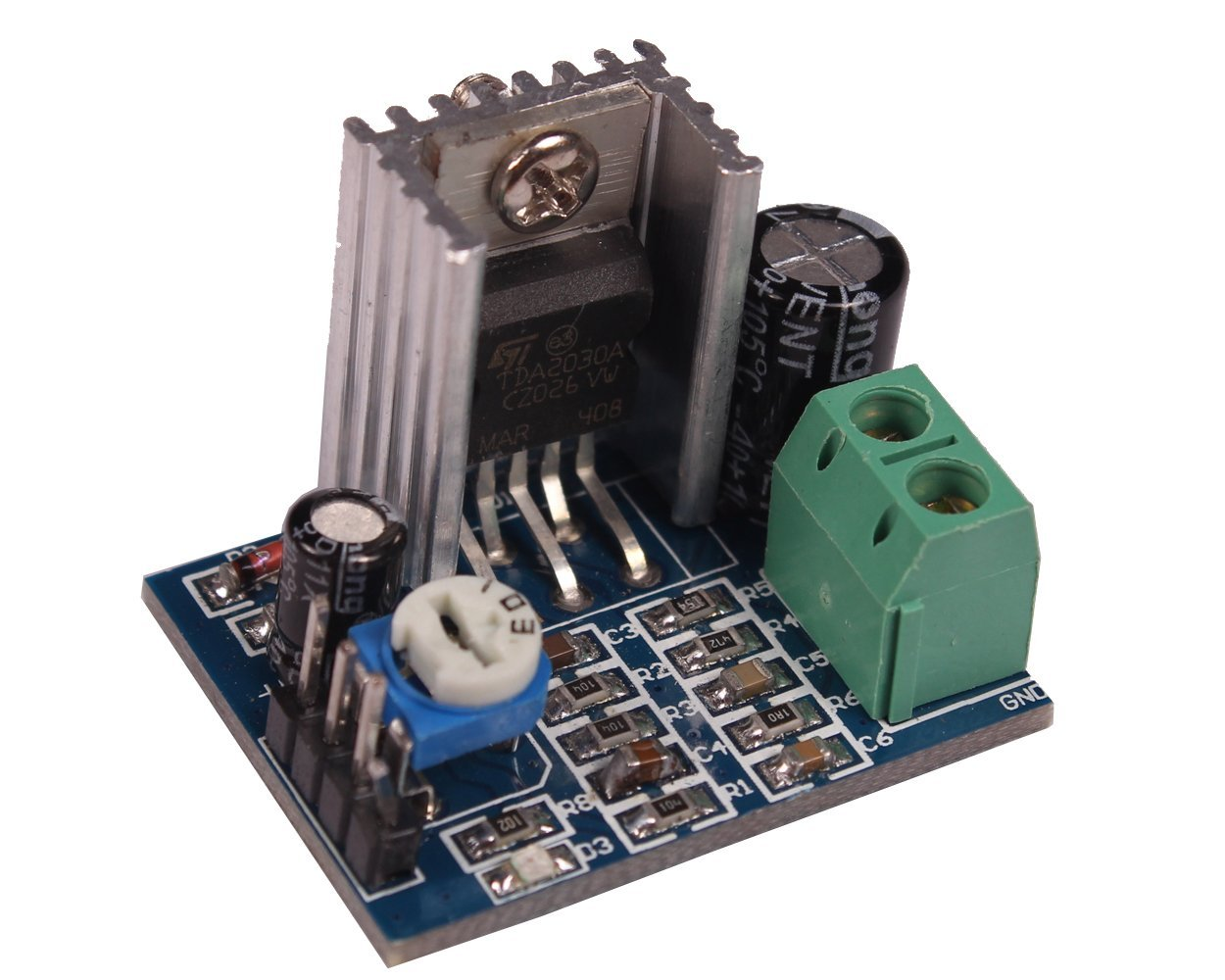 Power Supply Audio <font><b>Amplifier</b></font> Board Module <font><b>TDA2030</b></font> TDA2030A 6-12V 18W image