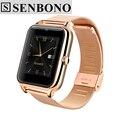 Senbono bluetooth smart watch z50 2g internet wearable dispositivos nfc apoyo tf tarjeta sim smartwatch para apple teléfono android t30