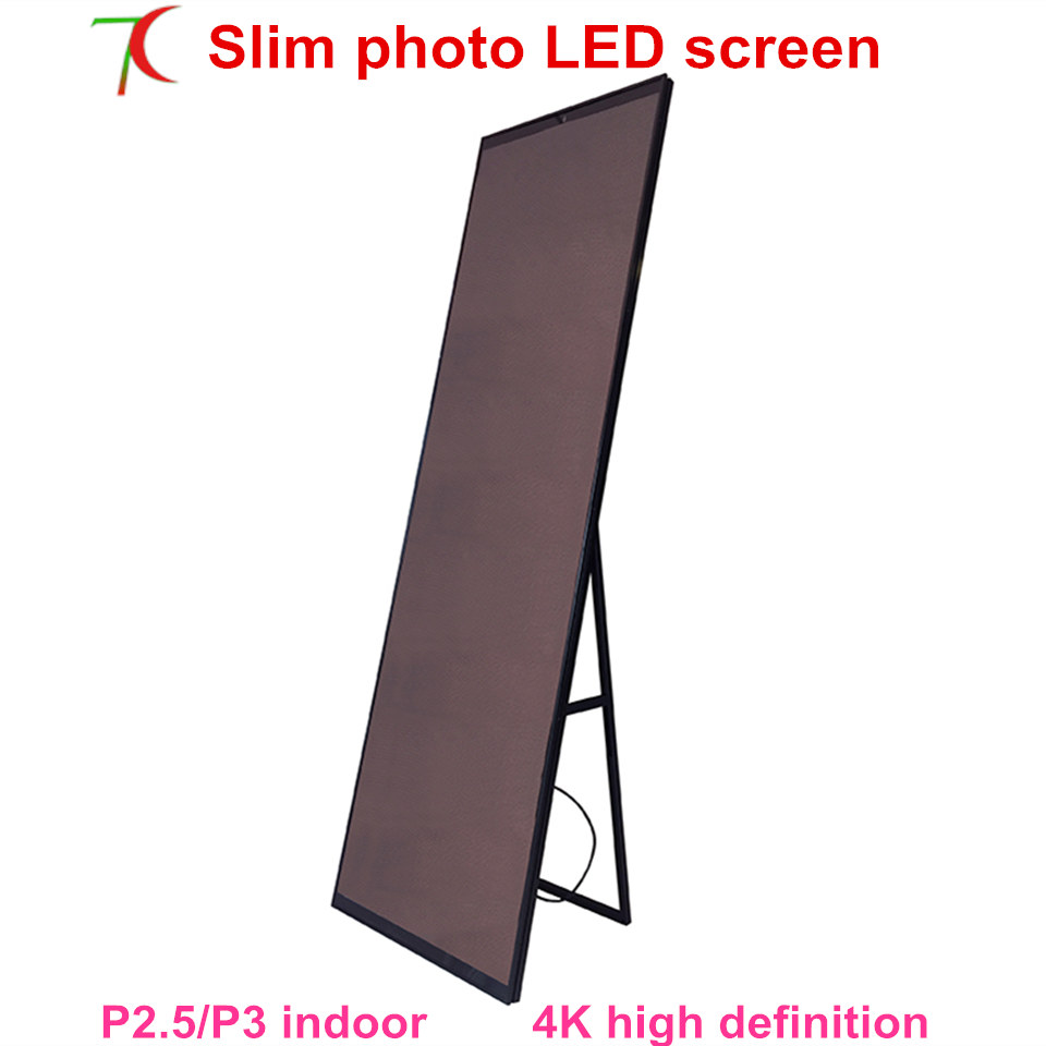 New Product 1950mm*650mm P2.5/P3 Slim Photo Led Display Advertisement Machine Led Poster Screen