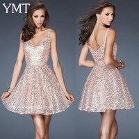 Salomon Free Shipping Robe De Soiree 2014 New Fashion Vestido De Festa Paillette Short Mini Prom