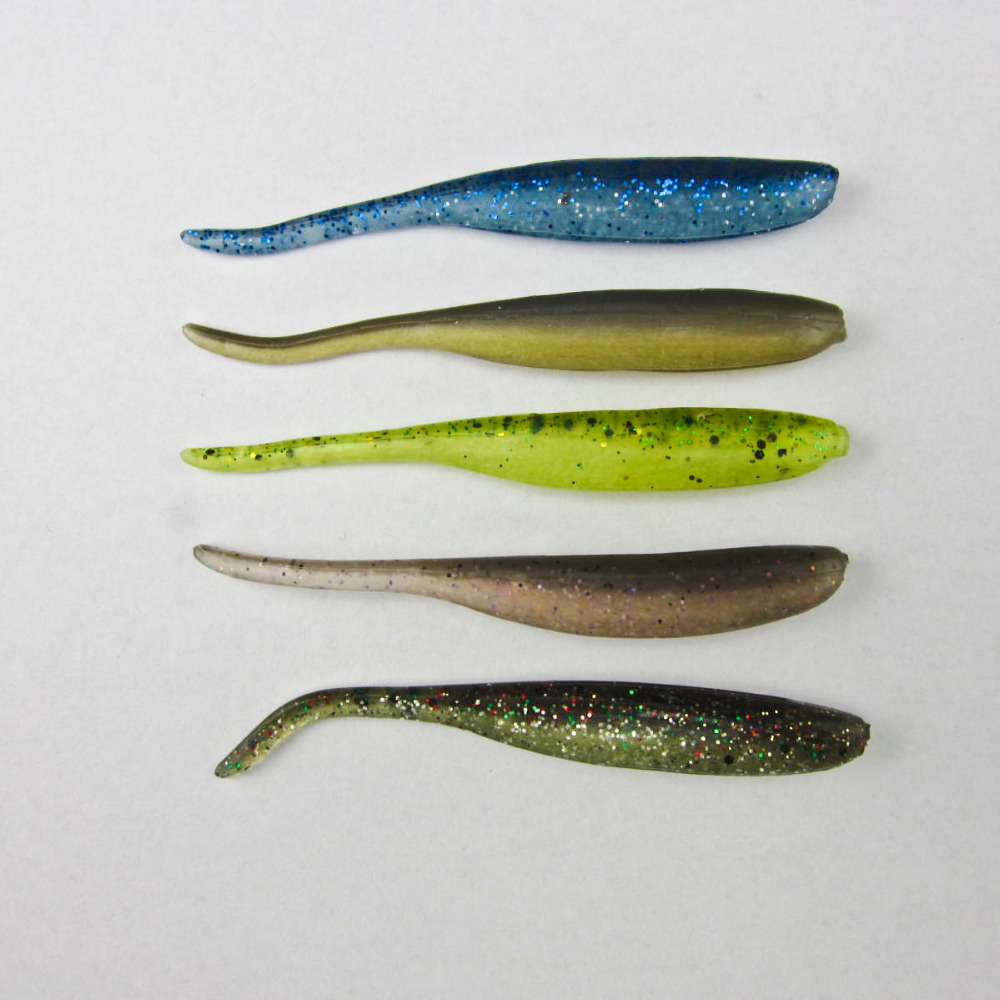 Salted fishing freshwater silicone soft swimbait shad bass for Trout fishing tackle