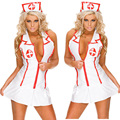 Sex Nurse Lingerie Costume Women Sexy Party Night Time Cosplay Clothing Set Free Shipping QQNY-0017