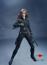 1:6 Super flexible figure Marvel's The Avengers Black Widow Scarlett Johansson 12″ action figure doll Collectible Model .No box