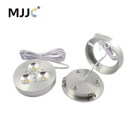 LED Puck Light 12V DC Warm Natural Cool White LED Downlight Lighting For Under Kitchen Cabinets