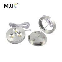 LED Puck Light 12V DC Warm Natural Cool White LED Downlight Lighting For Under Kitchen Cabinets