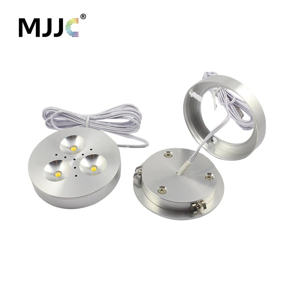 led puck luce 12 v dc caldo naturale bianco freddo ha condotto lilluminazione da incasso per meno di mobili da cucina contatore
