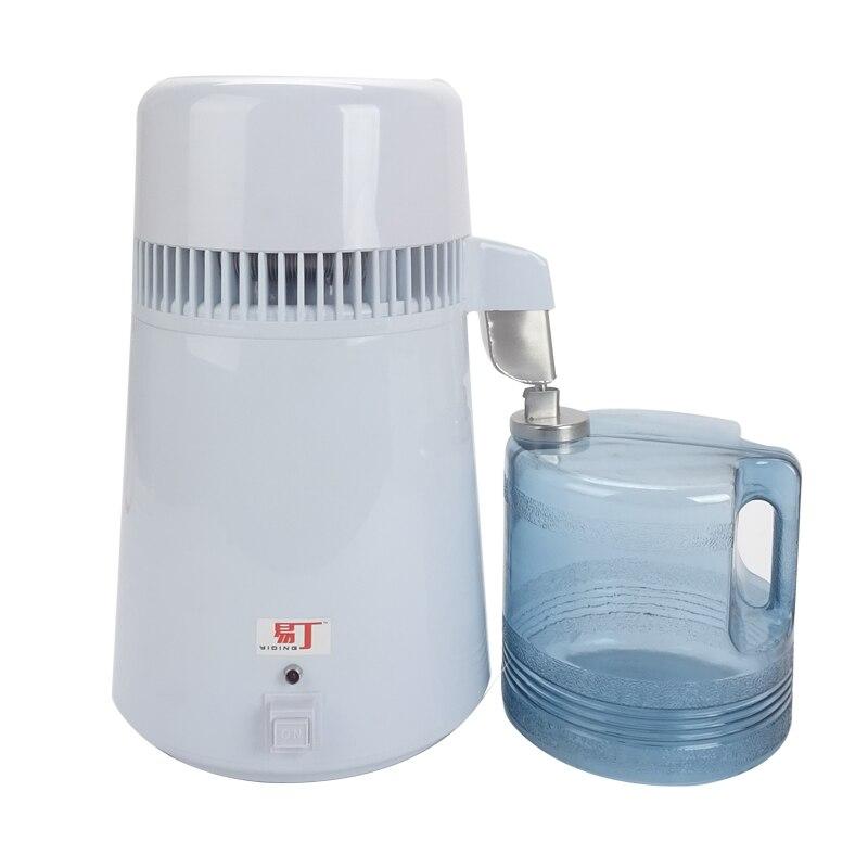 Melhor casa destilador de água pura máquina de filtro de destilação equipamento purificador de água de aço inoxidável destilador 4l