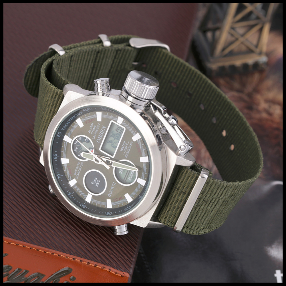 Hot Selling Original Famous Brand OHSEN Digital Sport Mens Watch Male Clock Nylon Band Fashion Diving Wristwatches For Men Gift (10)